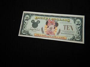 1999 MINNIE MOUSE $10. DISNEY DOLLAR #A00865010A > FREE SHIPPING