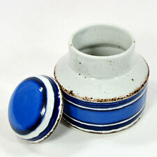 Midwinter Stonehenge MOON 12oz Lidded Sugar Bowl Oatmeal Blue Navy England