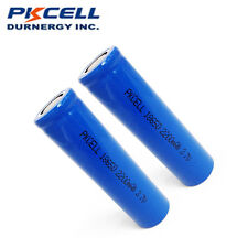 2× 18650 2200mAh 3.7V Rechargeable Li-ion Vape Mod Battery Flat Top PKCELL