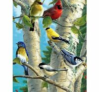 Birds Mosaic Diamond Painting Home Decor 5D DIY Embroidery Full Round Drills Kit