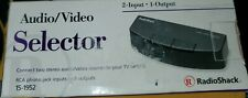 New ListingNew Radio Shack 2 Way Audio Video Selector Switch 15-1952 Rca Composite