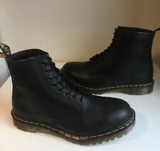 Vgc! Sz10 England Dr. Martens 1460 Air Cushion Soles Black Leather Boots Eu45