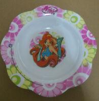 Piatto piano in plastica rigida Winx per la scuola materna elementare bambine