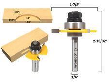 """#20 Biscuit Joint Slot Cutter Router Bit - 1/4"""" Shank - Yonico 14182q"""