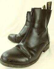 Saxon Womens Boots Ankle 3377 US 8.5 Black Vegan Zip Cap toe Chelsea 3115