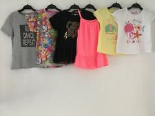 GIRLS 5-6 YEARS SUMMER TOPS CLOTHES BUNDLE NEXT SHOPKINS YD BLUE ZOO