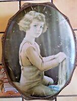 boite à biscuit chocolat COTE D'OR ancienne en métal BELGIQUE