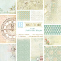 "12 Pc 6"" Retro Paper Pad Origami DIY Scrapbooking Album Diary Planner Making DIY"