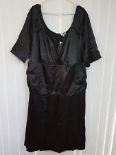 Plus Size Black Siren Satin Evening cocktail Dress by Kiyonna Size 30-32 NWT
