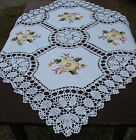 Hand Crochet Embroidered TABLECLOTH 33