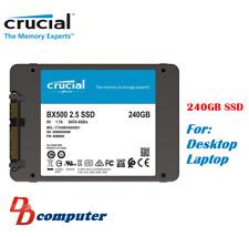 "Crucial Bx500 Series 240gb 2.5"" 7mm SATA Internal Solid State Drive SSD 540mb/s"
