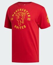 ADIDAS MANCHESTER UNITED RED DEVIL TRI BLEND VINTAGE ICON TEE SHIRT NEW SIZE XL