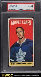 1964 Topps Hockey Tim Horton #102 PSA 4 VGEX