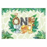 Safari Wild One Backdrop for Baby 1st Birthday Party Photography