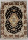Extra Fine Classic Floral Collectible 5X7 Wool & Silk Area Rug Oriental Carpet