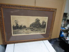 Frederick Fred Slocombe 1884  Etching  cows Countryside