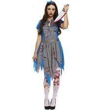 Womens Horror Alice in Wonderland Halloween Fancy Dress Costume
