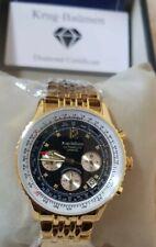 Krug Baumen 400103DS Air Traveller Diamond Black Dial Watch