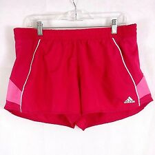 Adidas Womens Running Athletic Sports Short Shorts Polyester Bright Pink Size L