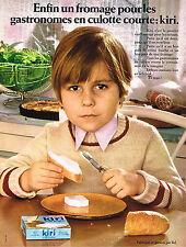 PUBLICITE  1970   KIRI  fromage pour gastronomes