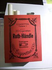🎉🎉🎉  Roth Händle - alte große Werbeaufsteller - HOLZ - RAR - mit Feuerzeug