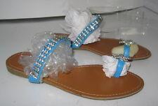 Summer blue  star NEW WOMEN FASHION BEADED Gladiator SANDALS   SIZE  6