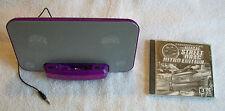 Purple Designer Powerful Boom Mp3 Player Speaker & Gift!