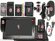 "NEW Lilliput 7""667GL v3 HDMI Monitor+F570 2200mAh battery+HDMI cable$179+$30"