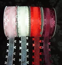 """Organzaband Woven with Pearls /""""Pearly/"""" 10mm//10 Metre!!!"""