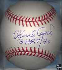Orlando Cepeda Atlanta Braves 3 HRs / 70 Autographed Signed OML Baseball COA HOF