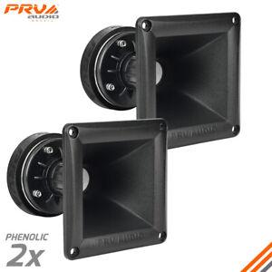 2x PRV WG175Ph 150W 8 Ohms Car Audio Tweeter / Horn Driver DT175Ph-S + WG11-25