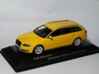 RARE Audi A6 avant C6 quattro de 2004 jaune au 1/43 de MINICHAMPS 400 013013