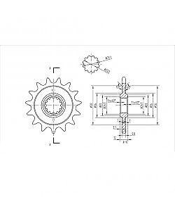 BikeMaster - 140 823 15 - Front Sprocket, 15T