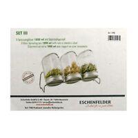 Eschenfelder 3 Sprossengläser Keimglas Keimgerät Set 3 mit Gestell 1000 ml