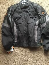 Xelement Men's Black Mesh Armored Jacket with Breathable 3 Way Lining 3XL