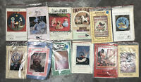 Lot of 13 Vintage Quilted Applique and Primitive Country Sewing Craft Patterns