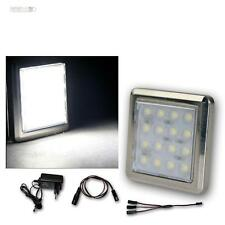 3er Set LED Chrom-Unterbaustrahler 16 LEDs kalt-weiß, mit Trafo, Aufbaustrahler