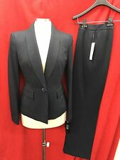 """LESUIT PANT SUIT/NEW WITH TAG/SIZE 14/LINED/RETAIL$200/INSEAM32""""/NAVY STRIPE"""