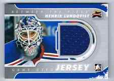 2011-12 BETWEEN THE PIPES GAME-USED JERSEY HENRIK LUNDQVIST JERSEY 1 COLOR NEW