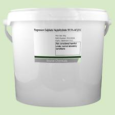 Sulfato de magnesio heptahidratado sales de Epsom 99.5% () 5Kg