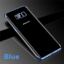 For Samsung Galaxy S8 Plus Crystal Clear Soft Slim Thin Silicone Skin Case Cover