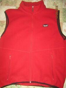 EUC Marker Mens Red Winter Polartec Vest Size M