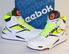 5a93681e9ee 2009 Reebok Twilight Zone The Pump White Neon Yellow Black 20th Anniversary  11.5