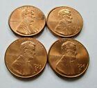 1993 D 94 D 95 D 96 D CIRCULATED NICE PENNY COINS