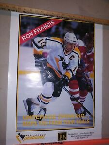 Ron Francis Pittsburgh Penguins, Underage Drinking, PLCB Promo Poster 25×18