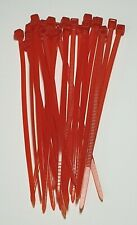Medium cable Ties - Red 25 Pack - 100mm - Easily secure cables - Free P&P