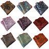 Men Stylish Paisley Jacquard Floral Hanky Pocket Square Wedding Handkerchief New