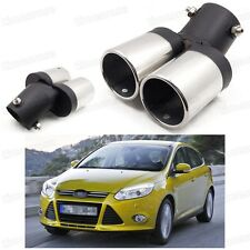 Car Exhaust Muffler Tip Tail Pipe End Trim Silver for Ford Focus 2011-2016 #2018
