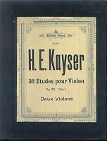 H. E. Kayser - 36 Etudes  pour Violon Op. 20 Cah. 1 priv. gebunden
