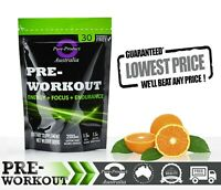 PRE WORKOUT 30 SERVES SWEET ORANGE WITH CREATINE, AAKG AND MORE